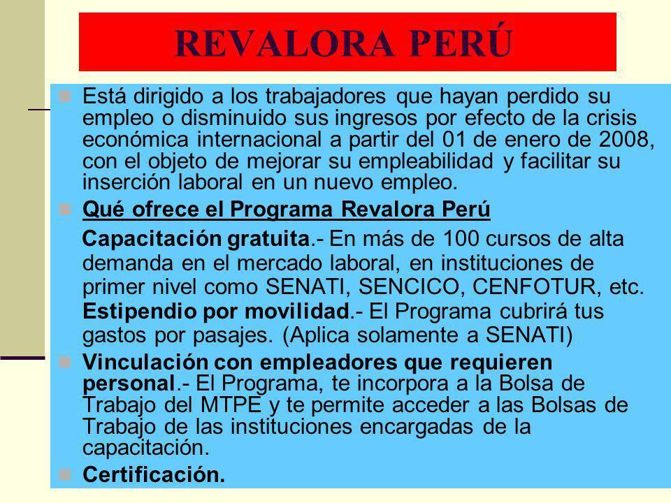REVALORA PERÚ