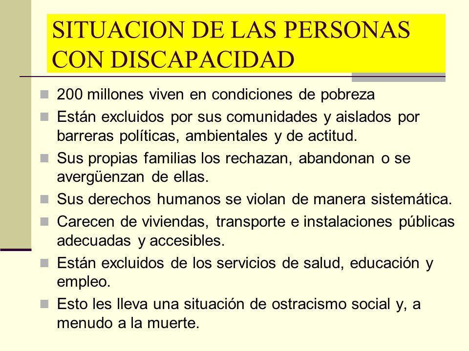 SITUACION DE LAS PERSONAS CON DISCAPACIDAD