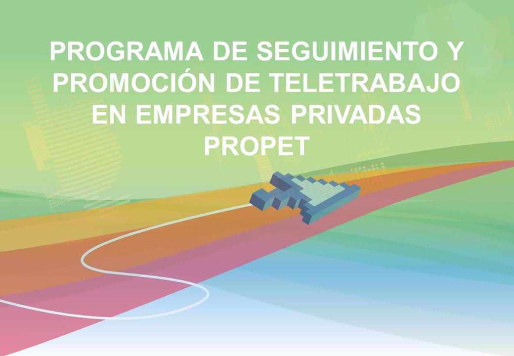 PROGRAMA DE SEGUIMIENTO Y PROMOCIÓN DE TELETRABAJO EN EMPRESAS PRIVADAS