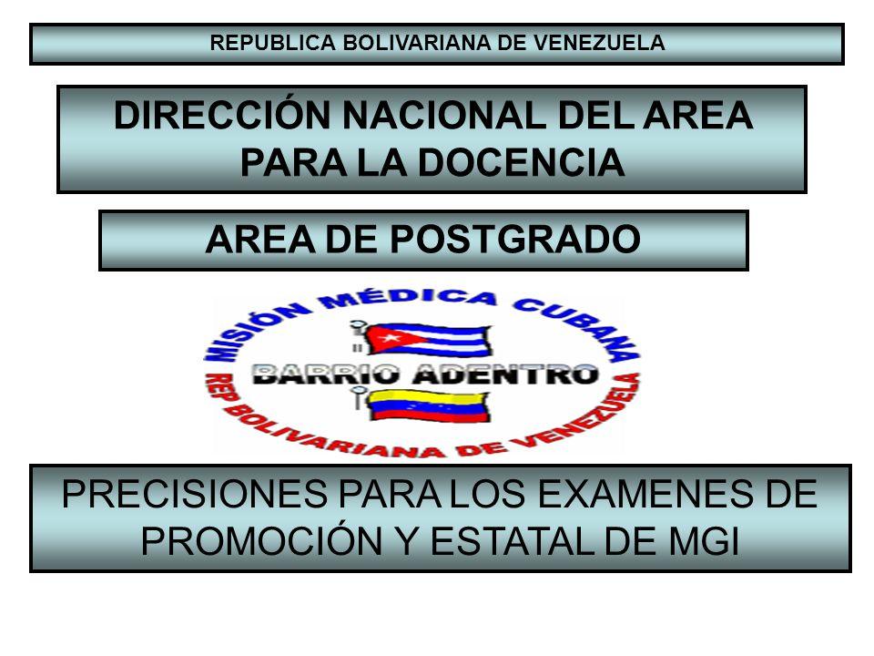 DIRECCIÓN NACIONAL DEL AREA PARA LA DOCENCIA AREA DE POSTGRADO