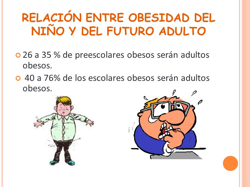 RELACIÓN ENTRE OBESIDAD DEL NIÑO Y DEL FUTURO ADULTO