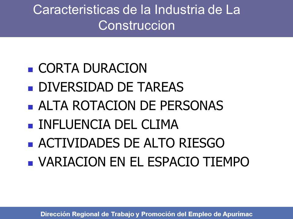 Caracteristicas de la Industria de La Construccion