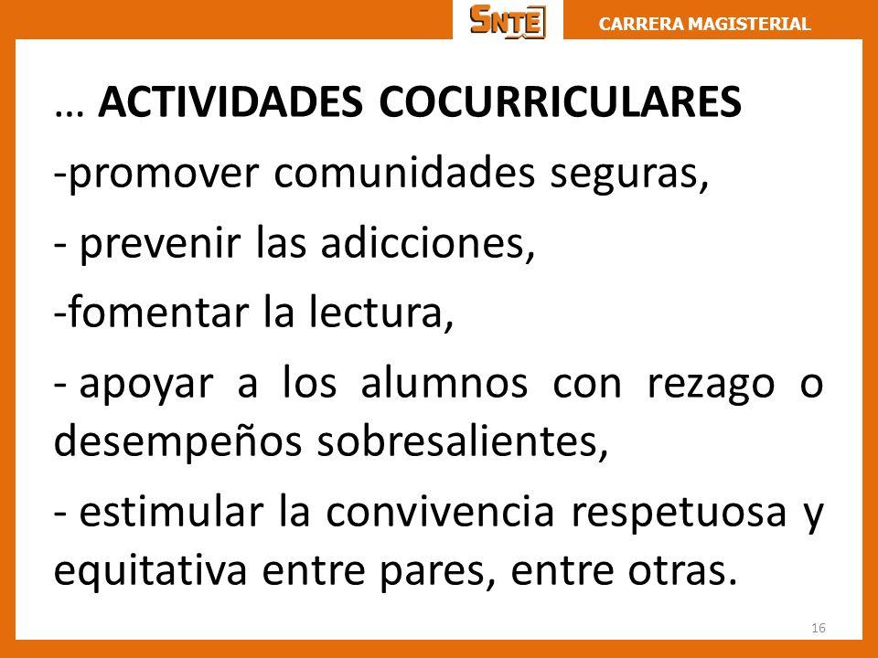 … ACTIVIDADES COCURRICULARES