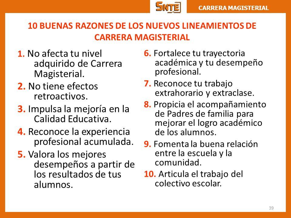10 BUENAS RAZONES DE LOS NUEVOS LINEAMIENTOS DE CARRERA MAGISTERIAL