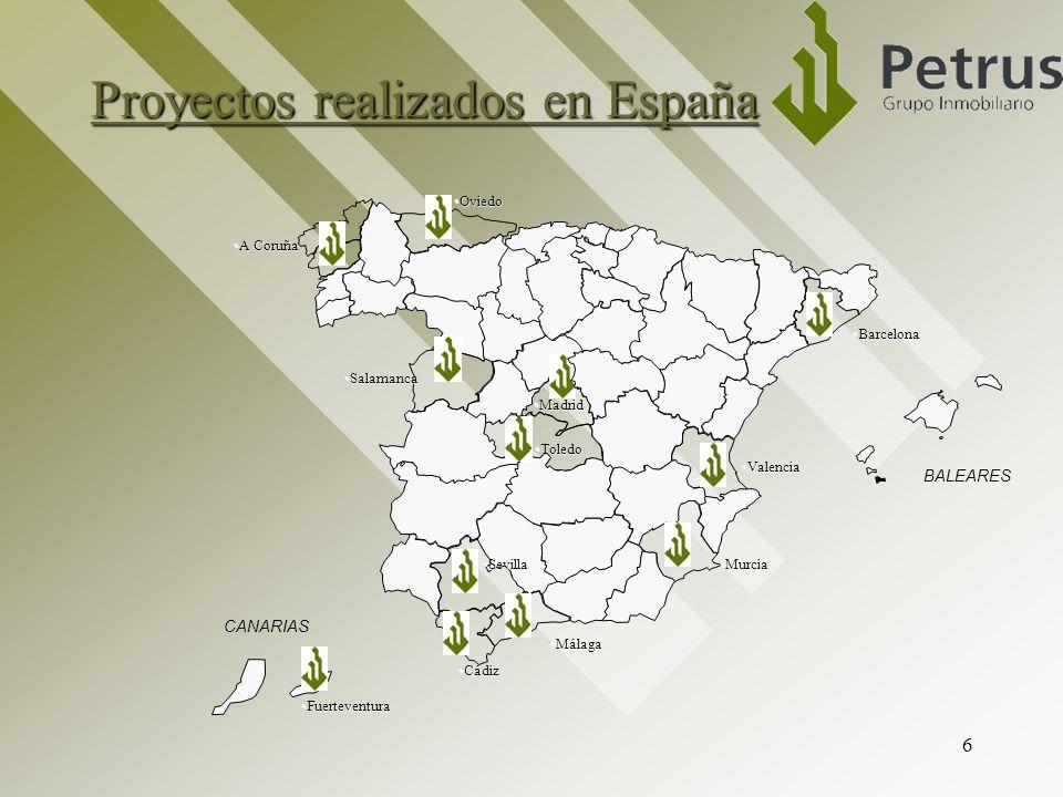 Proyectos realizados en España