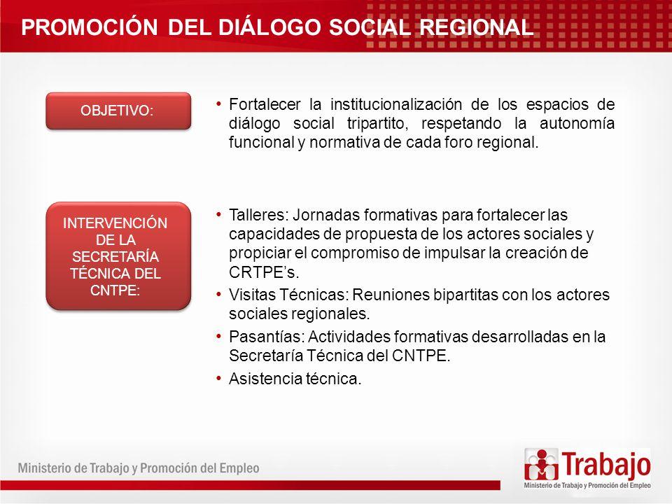 INTERVENCIÓN DE LA SECRETARÍA TÉCNICA DEL CNTPE: