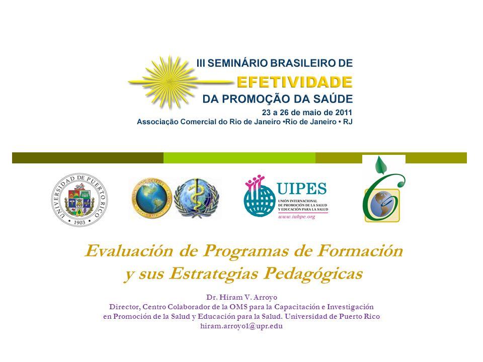 Evaluación de Programas de Formación y sus Estrategias Pedagógicas