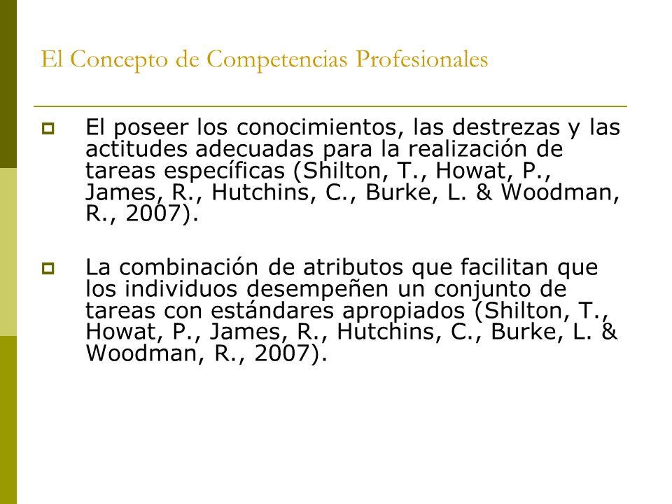 El Concepto de Competencias Profesionales