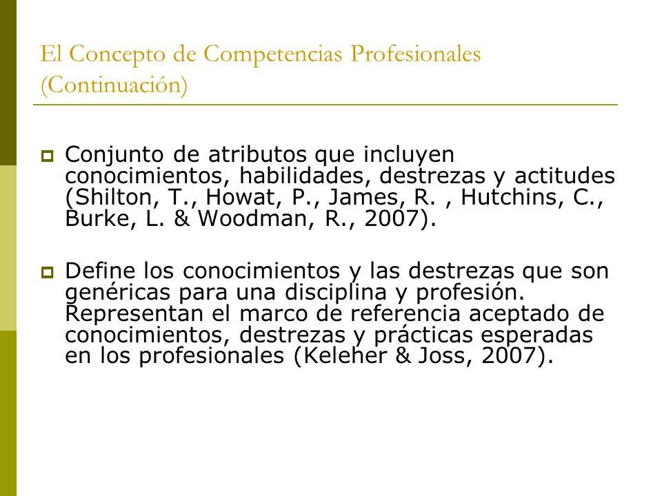 El Concepto de Competencias Profesionales (Continuación)