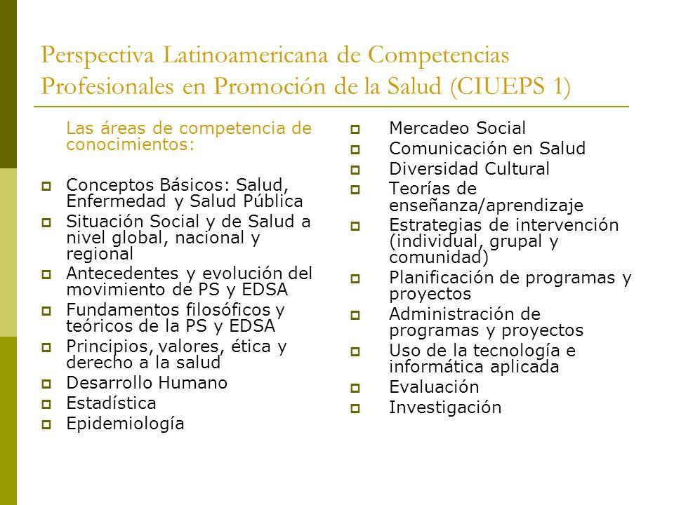 Perspectiva Latinoamericana de Competencias Profesionales en Promoción de la Salud (CIUEPS 1)