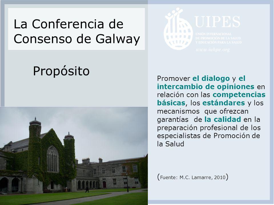 La Conferencia de Consenso de Galway Propósito
