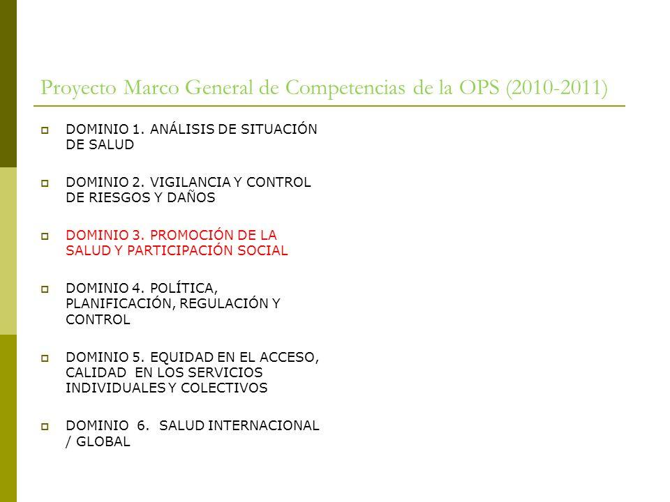 Proyecto Marco General de Competencias de la OPS (2010-2011)