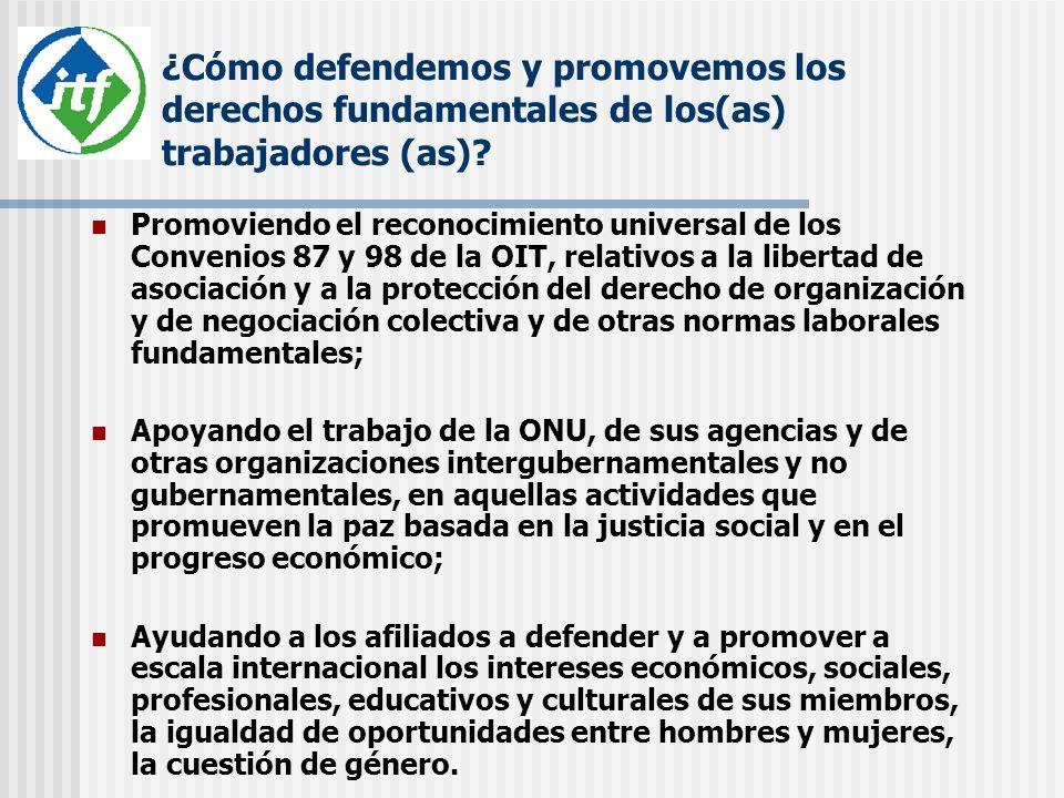 ¿Cómo defendemos y promovemos los derechos fundamentales de los(as) trabajadores (as)