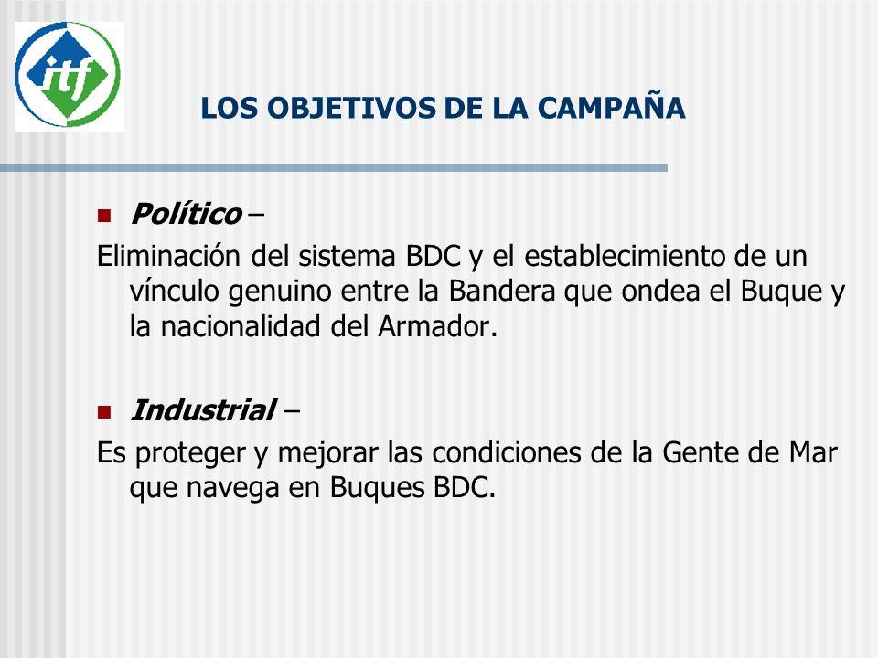 LOS OBJETIVOS DE LA CAMPAÑA