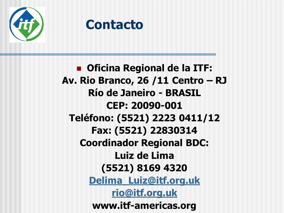 Contacto Oficina Regional de la ITF: