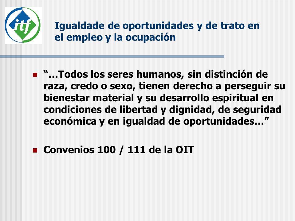 Igualdade de oportunidades y de trato en el empleo y la ocupación