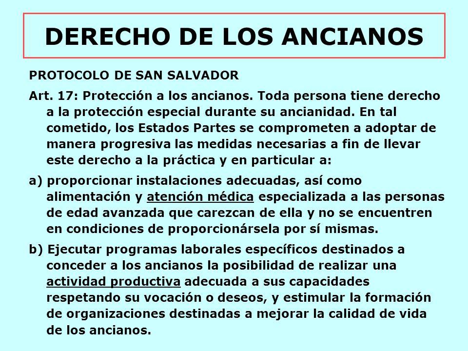 DERECHO DE LOS ANCIANOS