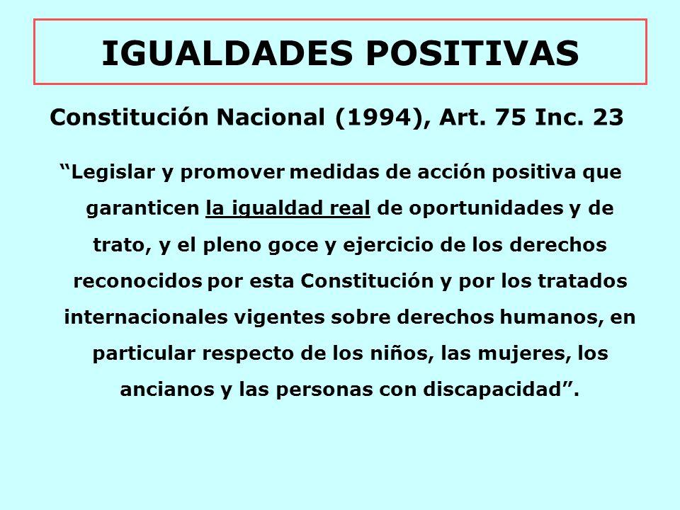 Constitución Nacional (1994), Art. 75 Inc. 23