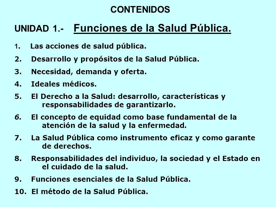 UNIDAD 1.- Funciones de la Salud Pública.