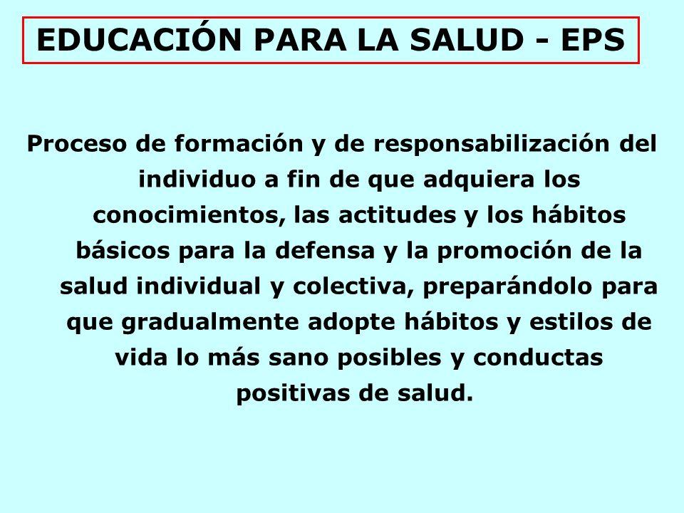 EDUCACIÓN PARA LA SALUD - EPS