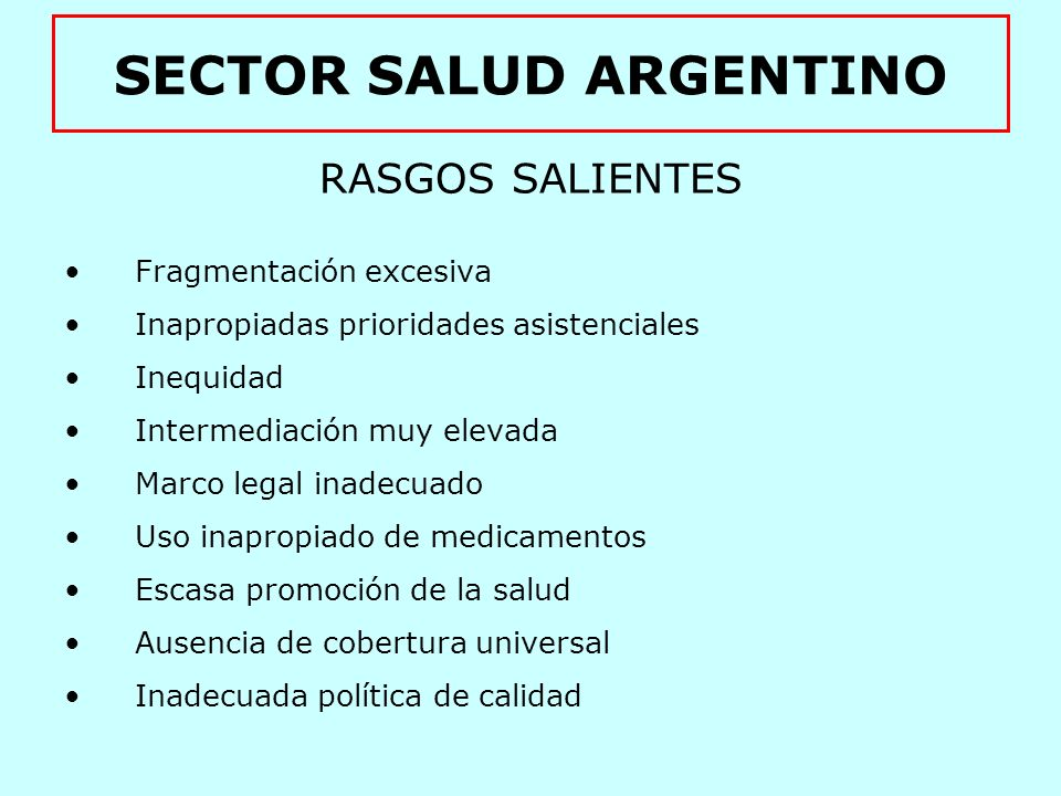 SECTOR SALUD ARGENTINO