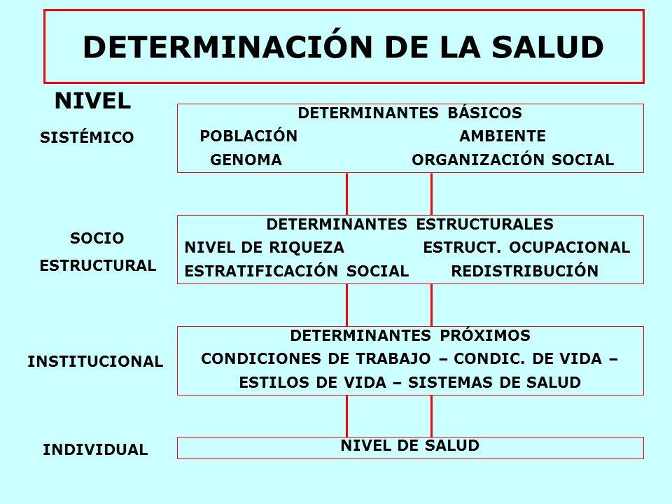 DETERMINACIÓN DE LA SALUD