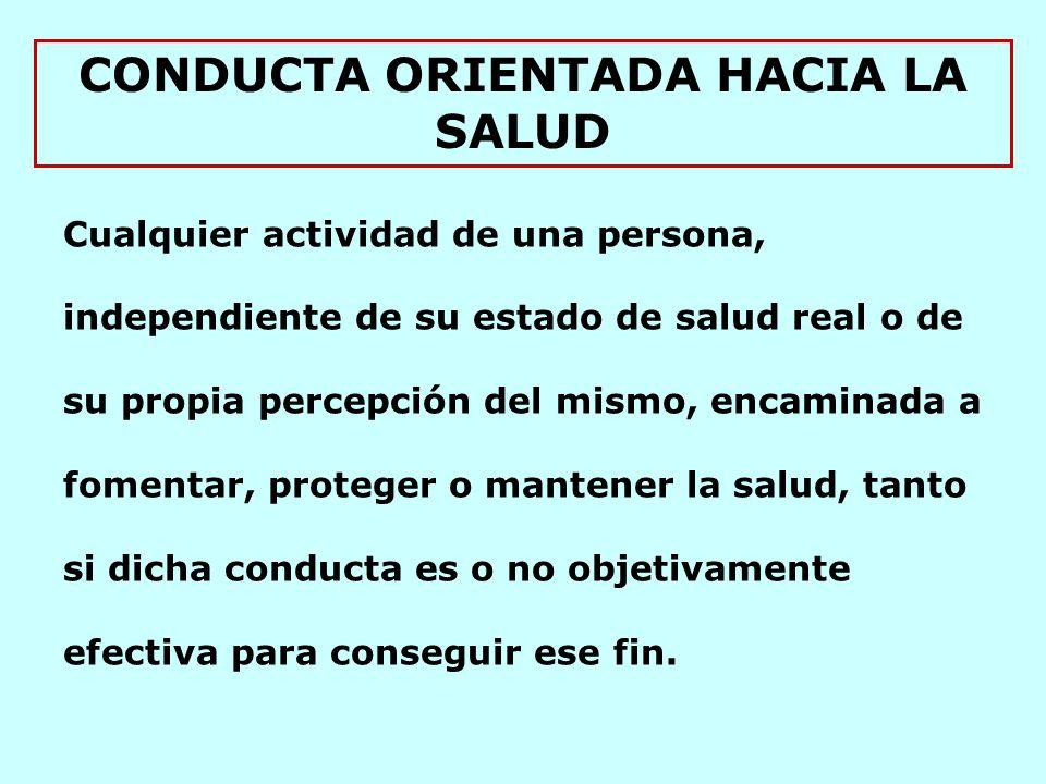 CONDUCTA ORIENTADA HACIA LA SALUD