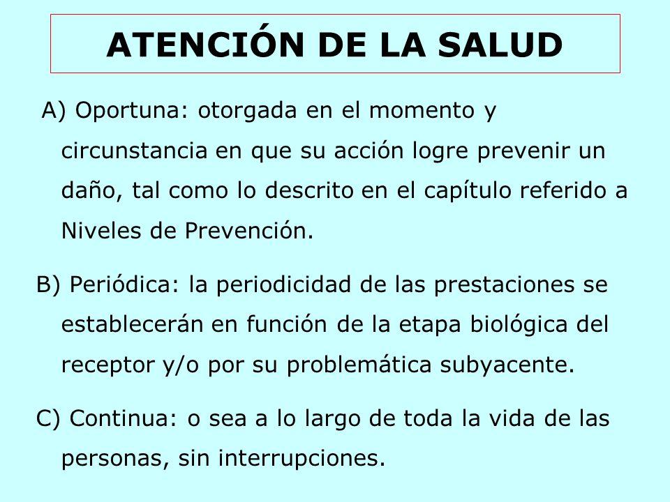 ATENCIÓN DE LA SALUD