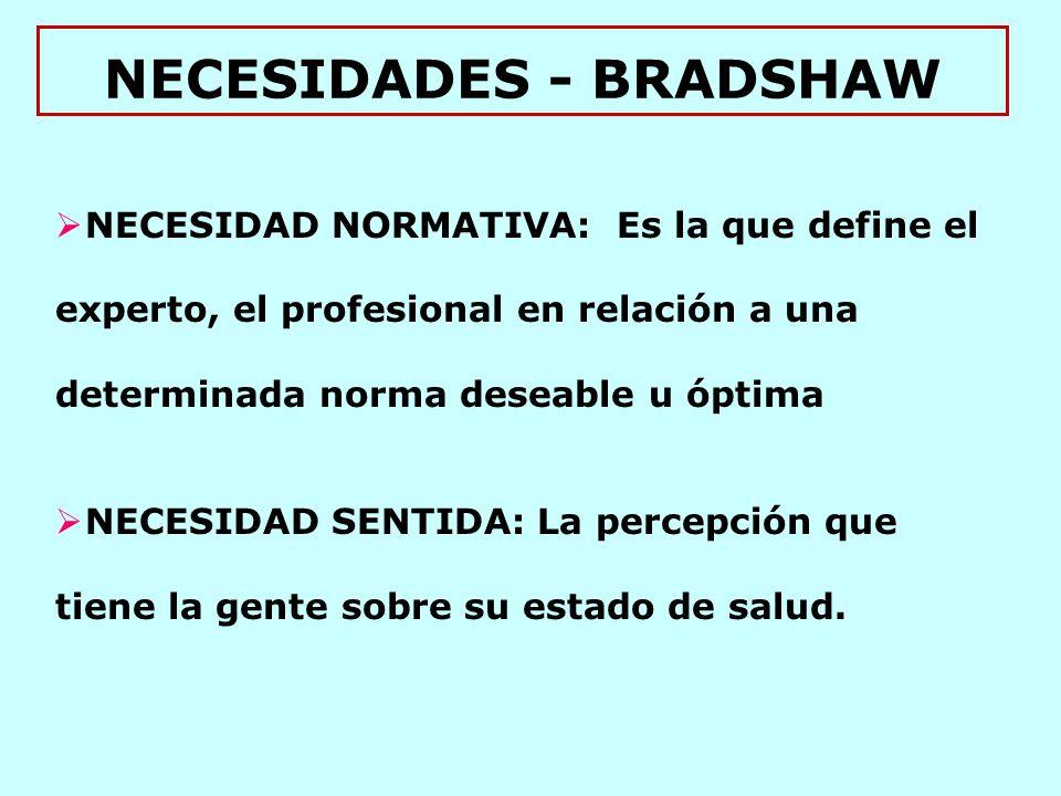 NECESIDADES - BRADSHAW