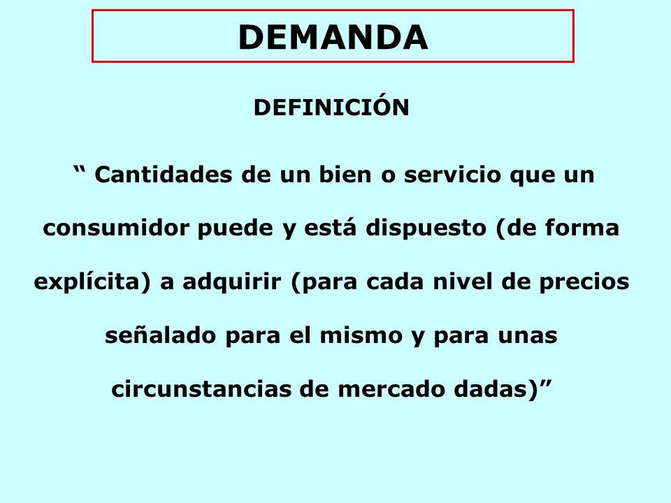 DEMANDA DEFINICIÓN.