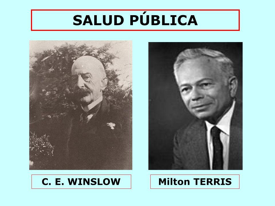 SALUD PÚBLICA C. E. WINSLOW Milton TERRIS