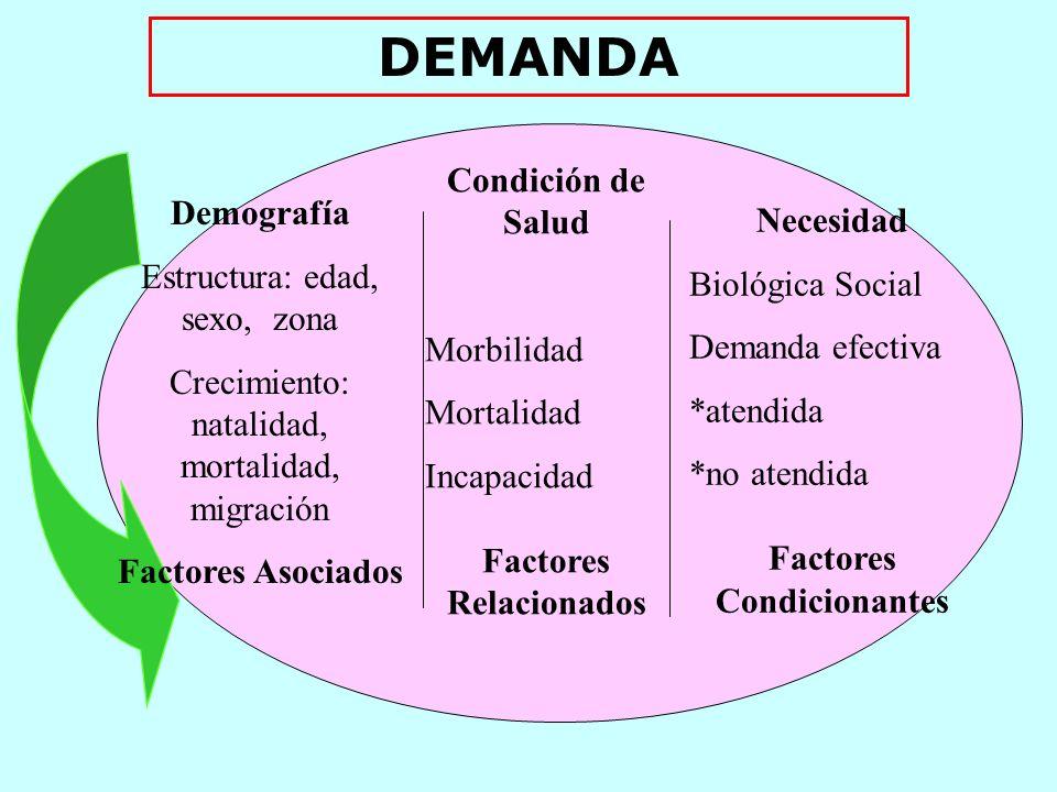 Factores Relacionados Factores Condicionantes