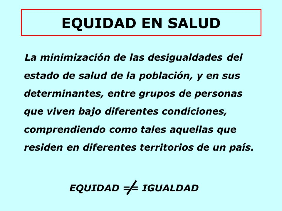 EQUIDAD EN SALUD