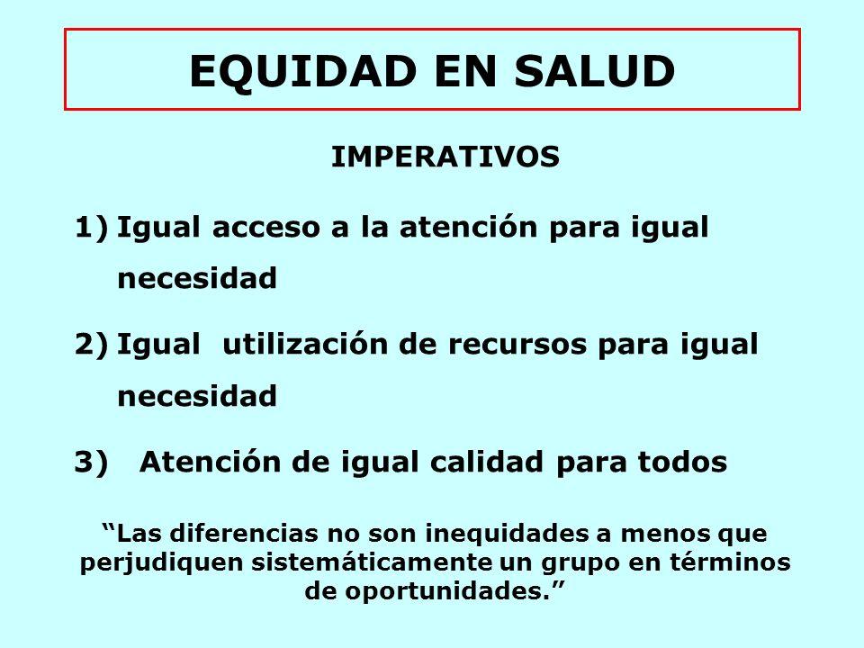 EQUIDAD EN SALUD IMPERATIVOS