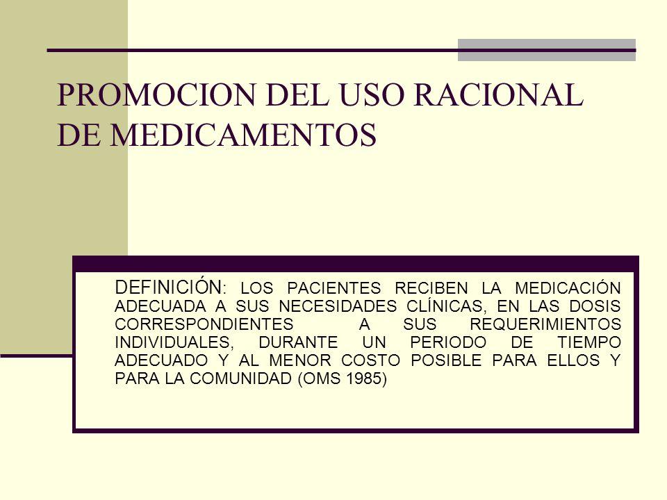 PROMOCION DEL USO RACIONAL DE MEDICAMENTOS