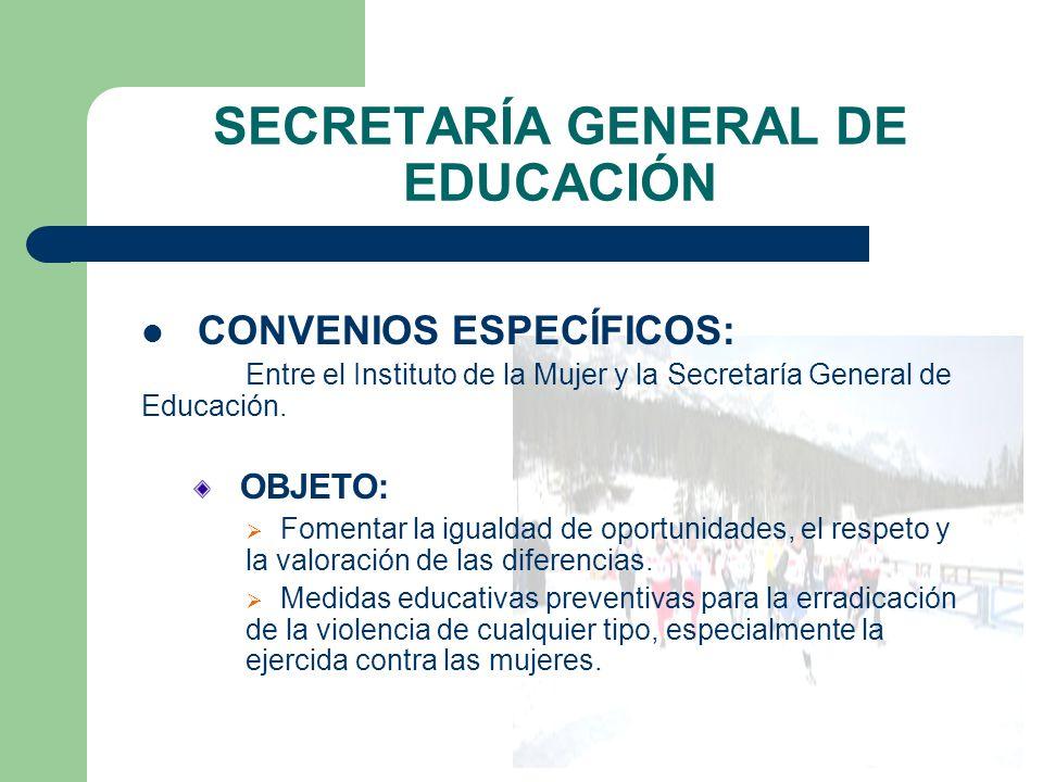 SECRETARÍA GENERAL DE EDUCACIÓN
