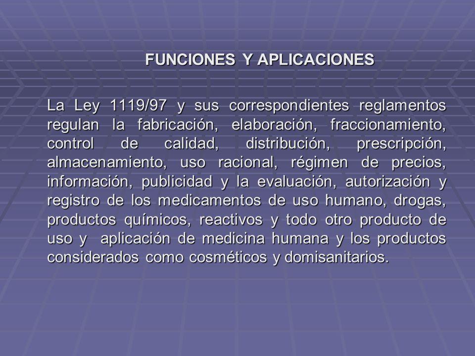 FUNCIONES Y APLICACIONES