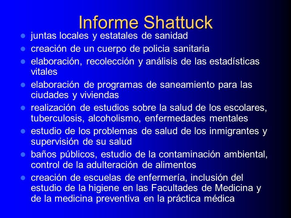 Informe Shattuck juntas locales y estatales de sanidad