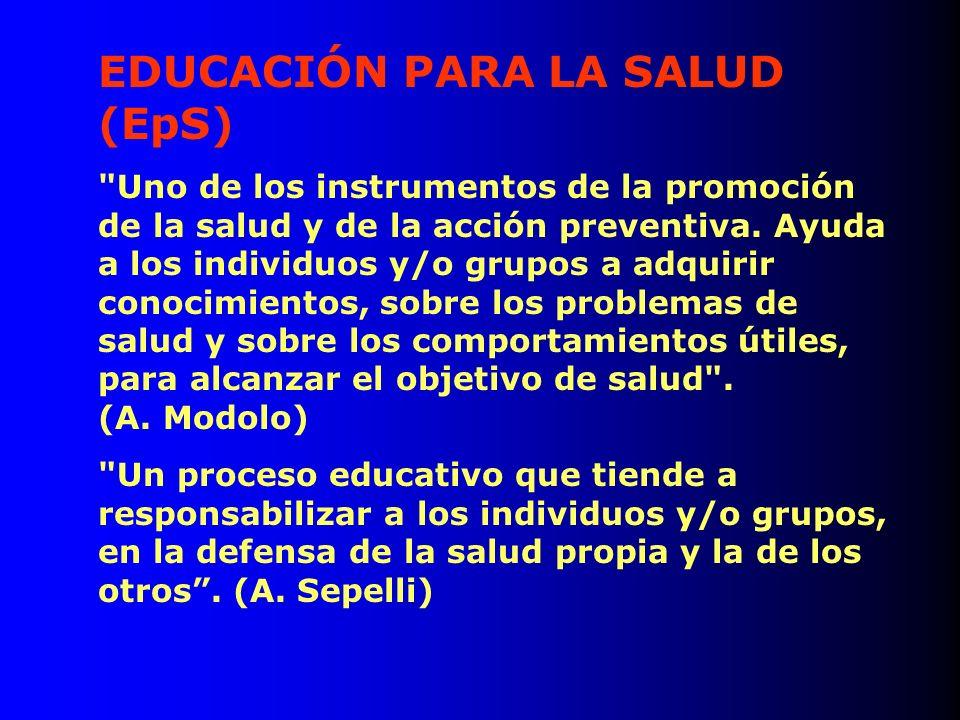 EDUCACIÓN PARA LA SALUD (EpS)
