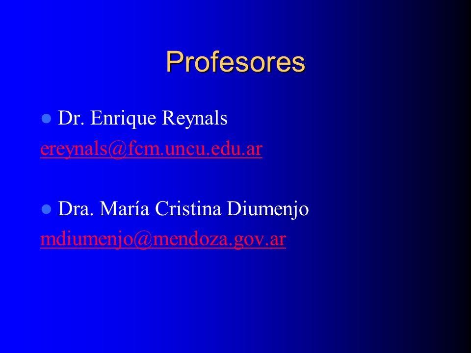 Profesores Dr. Enrique Reynals ereynals@fcm.uncu.edu.ar