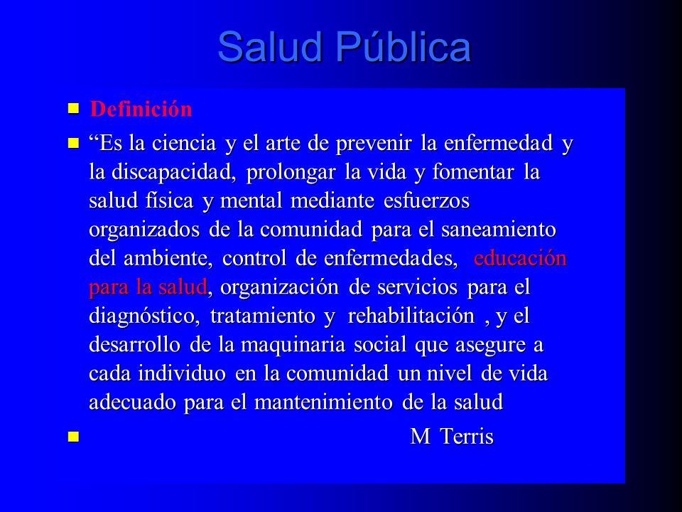Salud Pública Definición