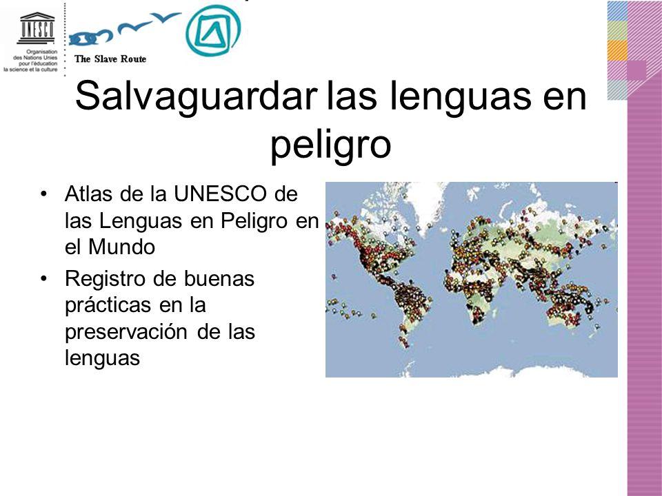 Salvaguardar las lenguas en peligro