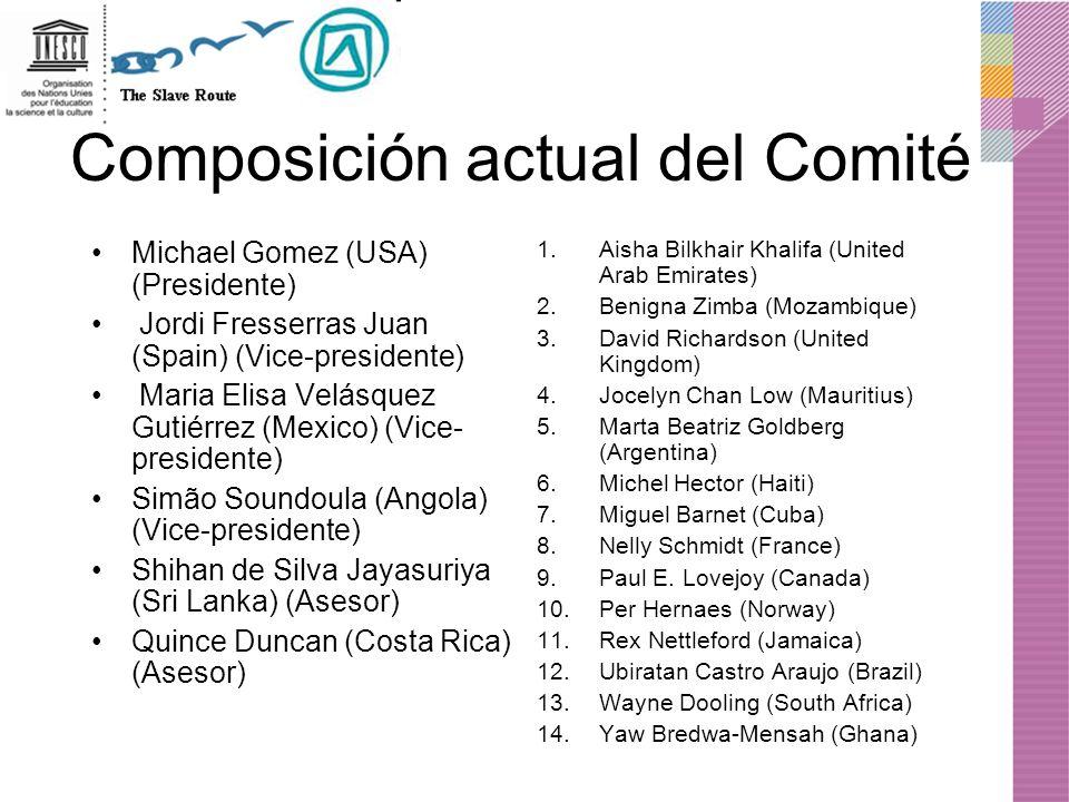 Composición actual del Comité