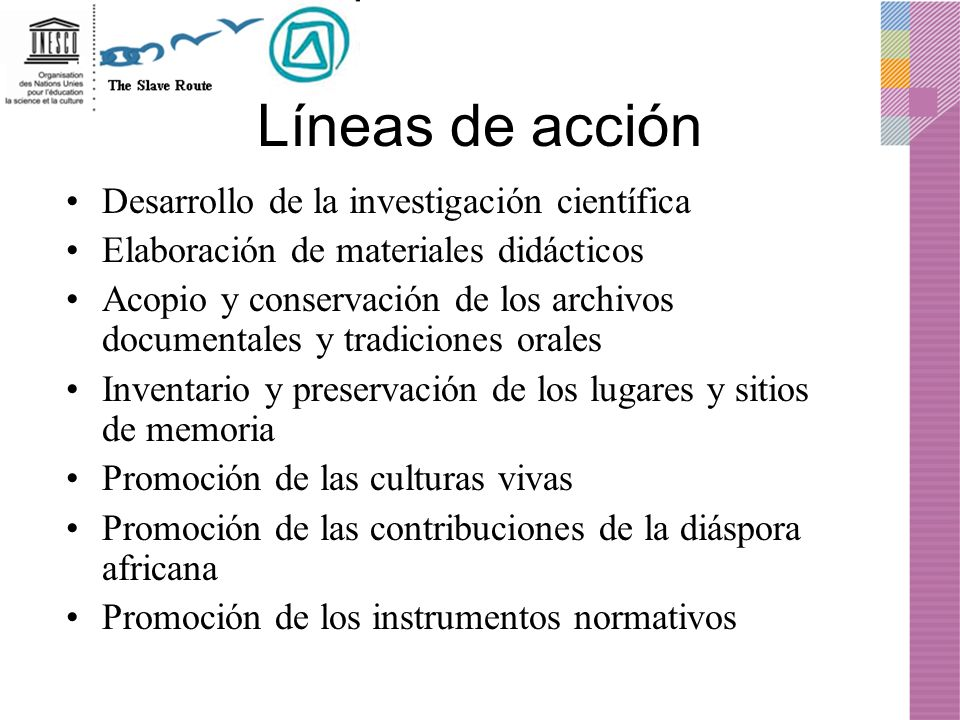 Líneas de acción Desarrollo de la investigación científica