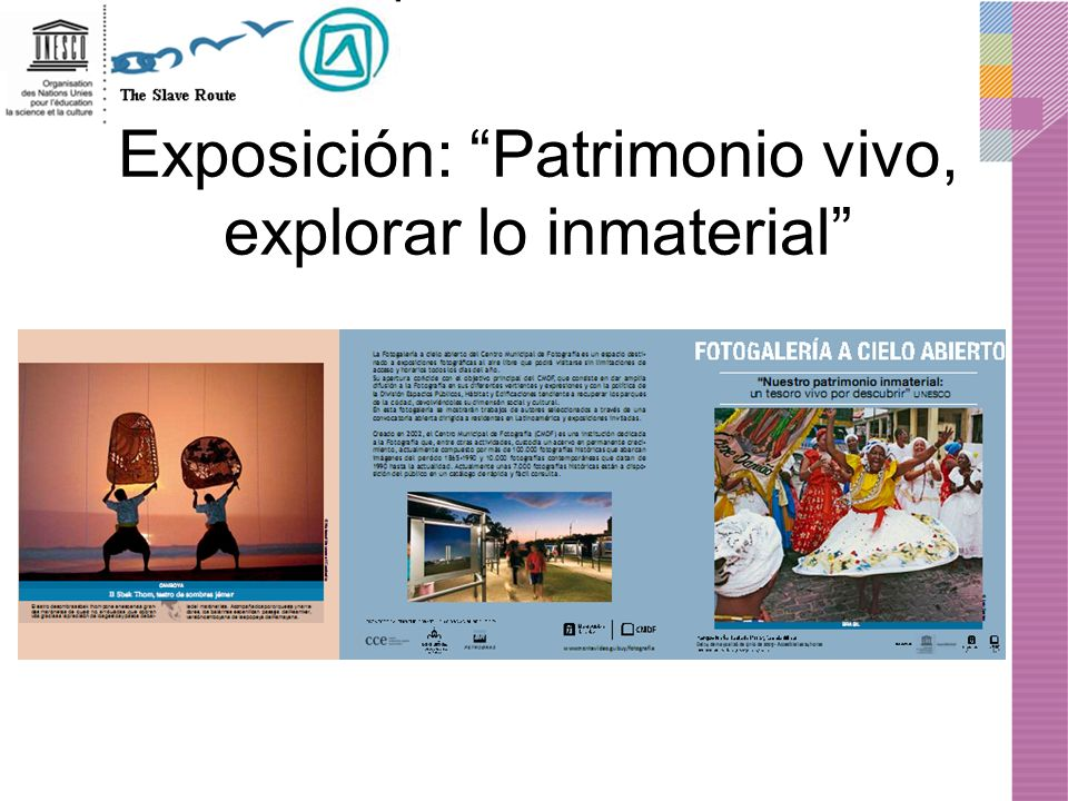 Exposición: Patrimonio vivo, explorar lo inmaterial