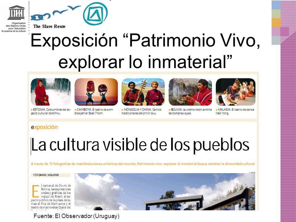 Exposición Patrimonio Vivo, explorar lo inmaterial