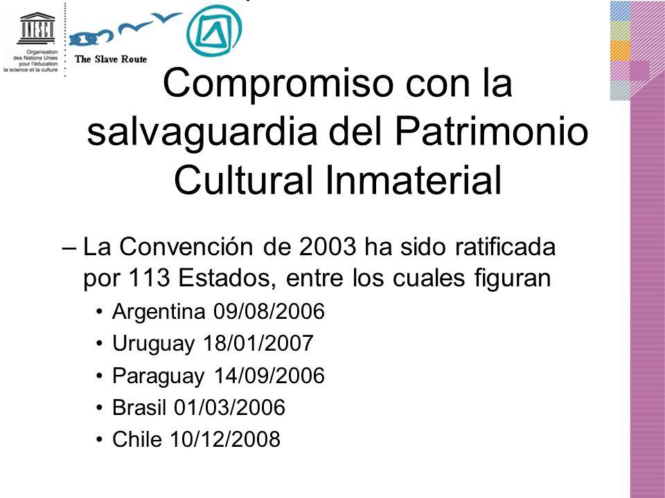 Compromiso con la salvaguardia del Patrimonio Cultural Inmaterial