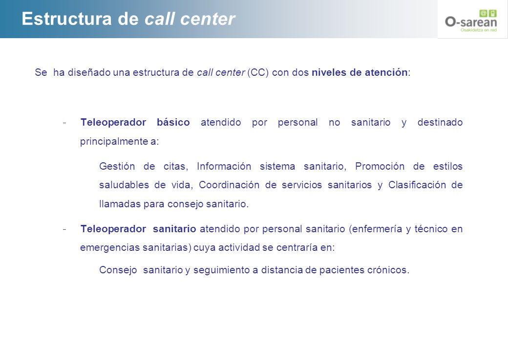 Estructura de call center