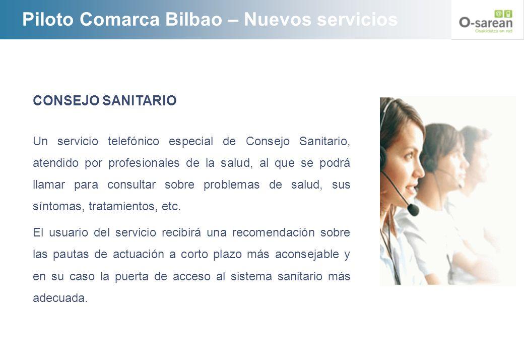 Piloto Comarca Bilbao – Nuevos servicios