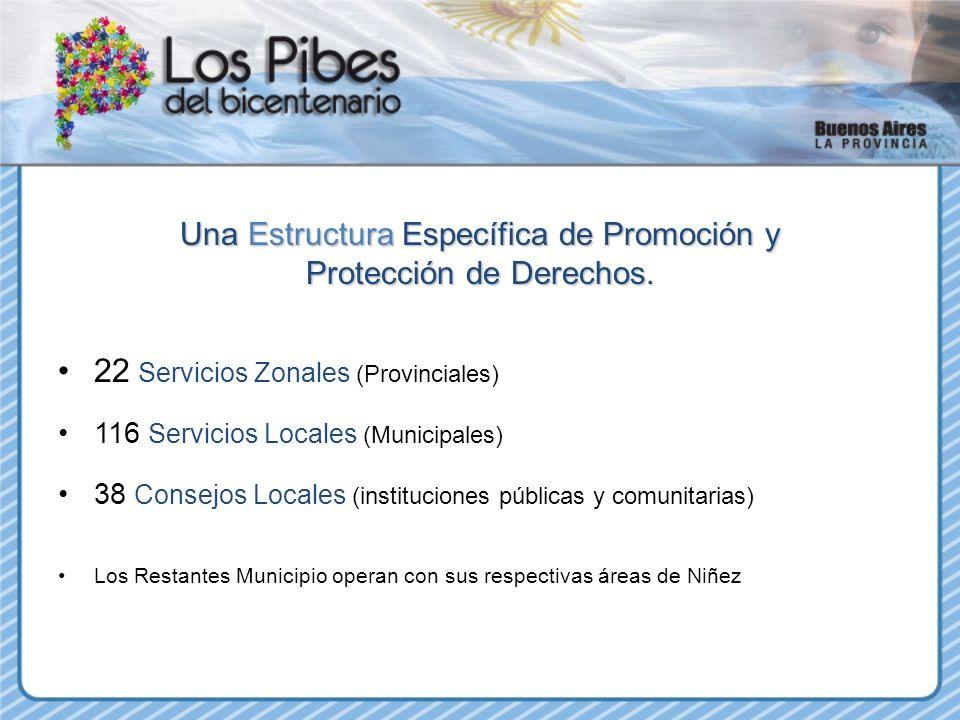22 Servicios Zonales (Provinciales)